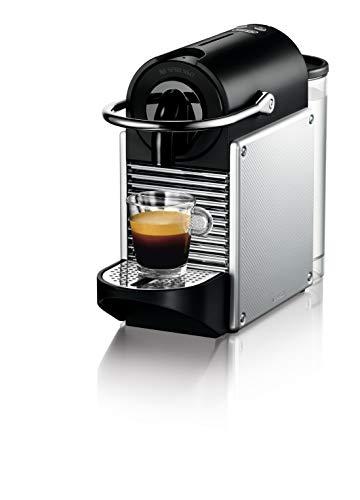 De'Longhi EN 124.S Nespresso Pixie EN124.S Macchina per caffè Espresso, 1260 W, Plastica, Argento, 0.7 Litri, Metallo