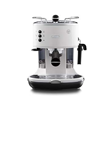 De'Longhi Icona Eco 311.W Macchina da Caffè Espresso Manuale e Cappuccino, Caffè in Polvere o in Cialde E.S.E., 1100 W, Bianco