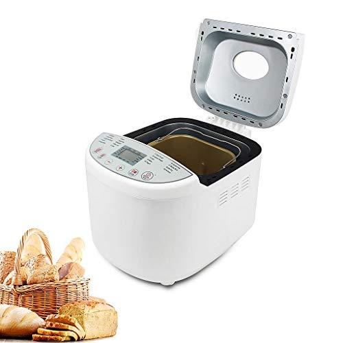 Domaier Macchina per il pane, 19 Programmi per la produzione di pane in automatico, marmellata, gelatine, Programma Senza Glutine, Certificato, Dimensione pane 0,5/0,7/1,0 KG