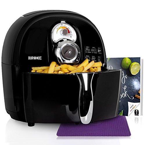 Duronic AF1 /BK Friggitrice ad Aria 1500 W – Friggitrice senza olio – Robot da cucina multifunzionale per friggere con libro di ricette - Ideale per friggere, grigliare, arrostire e cottura al forno