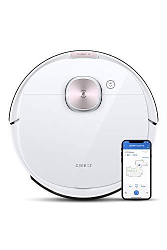 ECOVACS DEEBOT OZMO T8 - Robot aspirapolvere 2 in 1 con funzione lavapavimenti e navigazione intelligente, controllo Google Home, Alexa e app