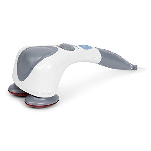 EGO PLUS® Massaggiatore di vibrazione e infrarossi (modello 2021) - Vibromassaggiatore elettrico portatile - Massaggio shiatsu, anticellulite, percussione - 2 Anni Garanzia