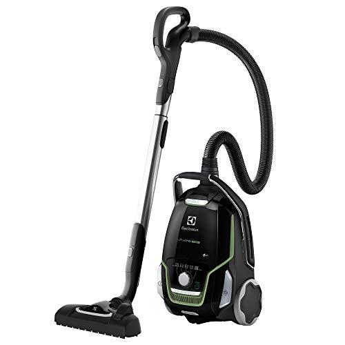 Electrolux EUO9GREEN Aspirapolvere con Sacco Ultraone, Sacchetto S-Bag XL da 5 L, Allergy Plus Filter, 700 W, Versione Green, Nero