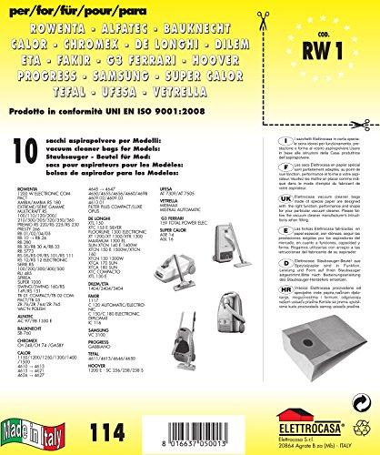 Elettrocasa RW 1 Sacchi carta per aspirapolvere