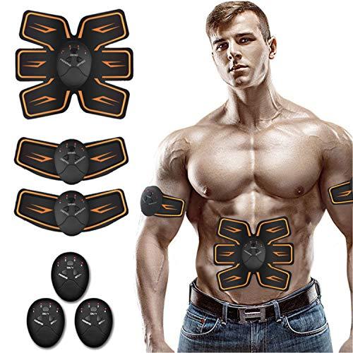 Elettrostimolatore Muscolare, EMS Suscolo Addominale, Elettrostimolatore per Addominali, elettrostimolatore muscolare professionale : massima potenza, addominali, glutei, potenziamento muscolare