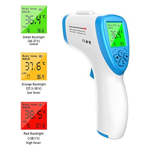 F FiGoal Senza Contatto Ir Fronte Digitale A Infrarossi Termometro Auricolare E La Funzione Di Oggetto Con Allarme Febbre E La Funzione Di Memoria E Bambino Adulto