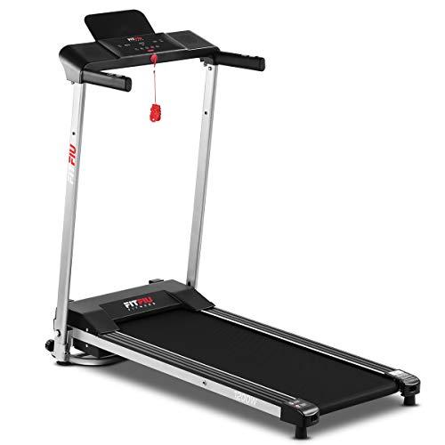 FITFIU Fitness MC-160 - Tapis Roulant Pieghevole Compatto, Macchina Fitness da 1200 W, 12 Programmi di Allenamento e Cardiofrequenzimetro, Velocità Fino a 10 km/h e Superficie di Corsa di 36 x 100 cm