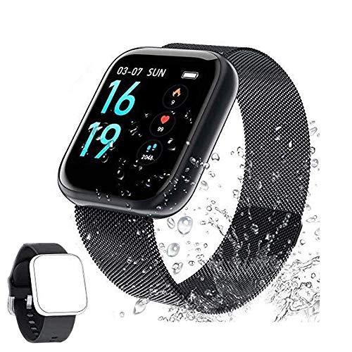 Fitness Tracker Cardiofrequenzimetro,Soding Tracker attività impermeabile IP68 Smart Watch e contapassi Tracker del sonno con 2 cinturini intercambiabili per uomo e donna(N1)