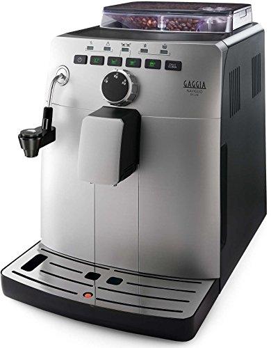 Gaggia HD8749/11 Naviglio Deluxe - Macchina da Caffè Automatica, per Espresso e Cappuccino, Caffè in Grani, 1,5 L, 15 Bar, 1850 W, Argento