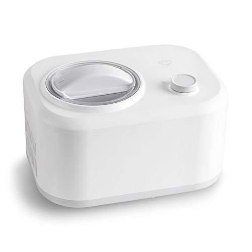Gelatiera Eni con Compressore Autorefrigerante 100W, 1L, Macchina per Gelato e Sorbetti, Ice Cream Maker