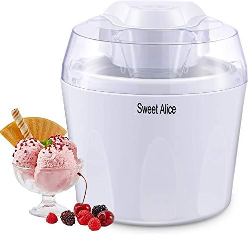 Gelato, macchina per il gelato, senza BPA, 1,5 l, Gelato, Frozen, Yogurt Sorbet con pagaia mista e timer automatico.