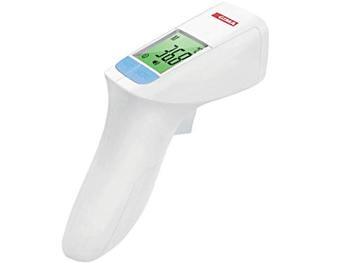 GIMA GIMATEMP Termometro febbre infrarossi, termoscanner per febbre e termometro frontale. Termometro infrarossi senza contatto, termometro per corpo e superfici. Termometro neonato bambini e adulti