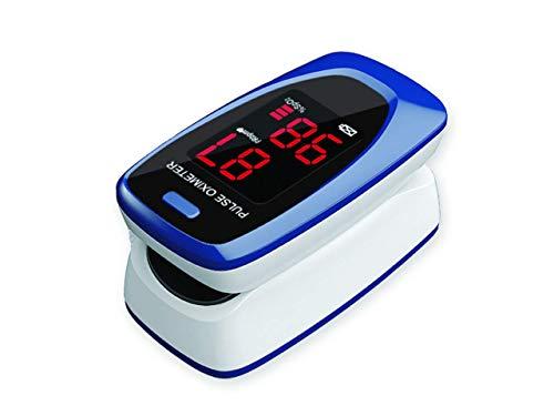 GIMA SATURIMETRO OXY-2, Pulsoximetro da Dito, Portatile, Professionale, Rileva Saturazione e Battito, 2 pile AAA incluse, Allarmi Visivi e Acustici, Display LED