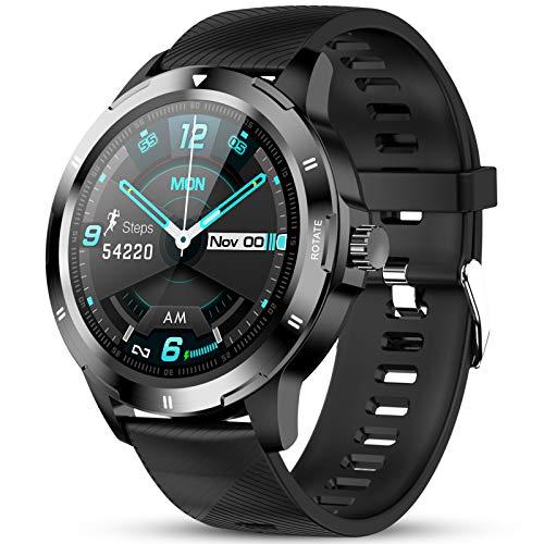 GOKOO Smartwatch Orologio Fitness Uomo Cardiofrequenzimetro Touch Screen Bluetooth Sportivo Activity Fitness Tracker Monitor Della Pressione Sanguigna Contapassi Calorie Compatibile con Android IOS