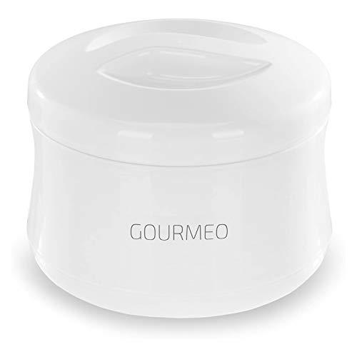 GOURMEO yogurtiera per yogurt naturale, di soia, quark, 1 litro di capacità, senza corrente, pulizia semplice | joghurt-maker, contenitore/macchina per yogurt