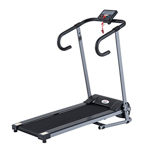 homcom - Tapis roulant Elettrico Attrezzo Ginnico richiudibile Attrezzo per l'Allenamento Domestico Schermo LCD 500 W
