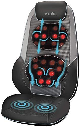 HoMedics ShiatsuMax 2 Sedile Massaggiante Shiatsu |Massaggiatore Elettrico Schiena Lombare Spalle | Poltrona Massaggiante regolabile per massaggio schiena personalizzato, Vibrazione e Funzione Calore