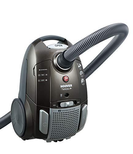 Hoover TE70_TE69 - Aspirapolvere a traino, con sacchetto silenzioso, 69 dB, 3,5 l, 9 m, EPA, lavabile, parquet, MiniTurbo, moquette, ioni d'argento