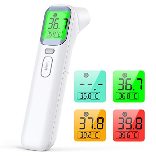 IDOIT 4 in 1 Termometro Professionale Termometro digitale infrarossi Termometro frontale auricolare febbre per Adulti, Neonati, Bambini