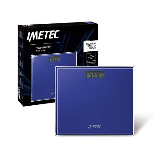 Imetec 5813 Compact ES1 100 Bilancia Pesapersone Elettronica Compatta, Design sottile, Ampio LCD Display
