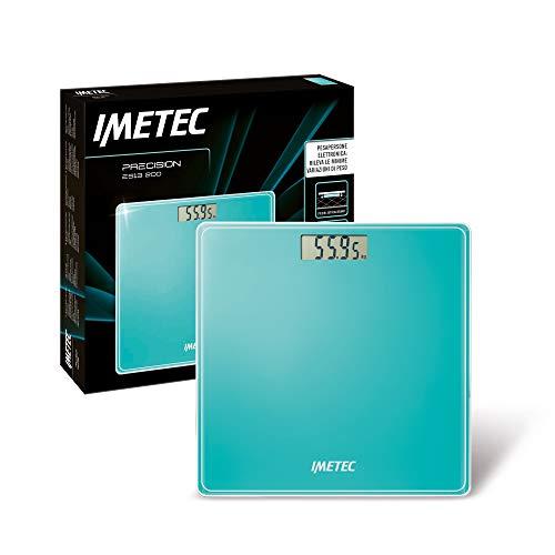 Imetec Precision ES13 200 Bilancia pesapersone elettronica, rivela anche le minime variazioni di peso, fino a 180 Kg, LCD Display, vetro temperato, batterie incluse