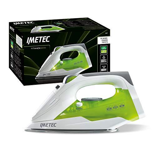 Imetec Titanox Eco K107 Ferro da stiro a vapore, Tecnologia a risparmio energetico, 2000 Watt, Piastra in acciaio inox autopulente, Vapore Regolabile, Getto di vapore 40 g, lunghezza cavo 2 mt