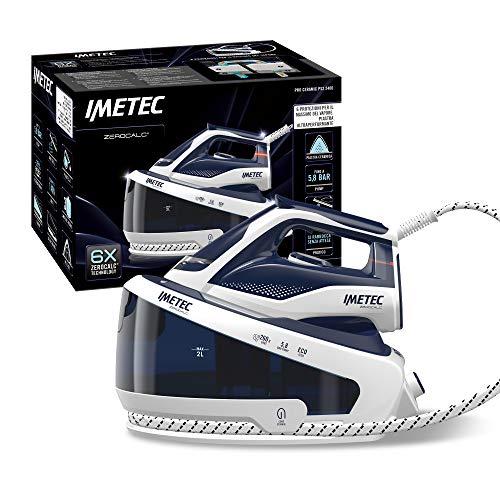 Imetec ZeroCalc PRO PS2 2400 Ferro da Stiro Generatore di Vapore, Tecnologia Anticalcare, fino a 5.8 BAR pump, Colpo Vapore 260 g, Piastra in Ceramica scorrevole, 3 filtri Anticalcare Inclusi