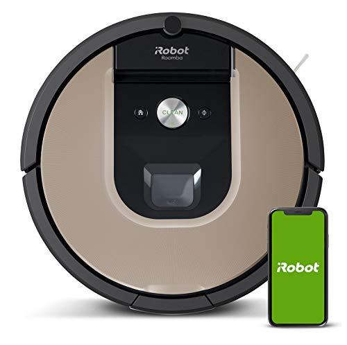iRobot Roomba 966 Robot aspirapolvere collegato a WiFi con aspirazione ad alta potenza, 30 W, 0,6 litri, 58 Decibel Nero