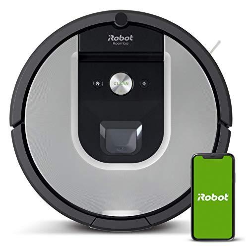 iRobot Roomba 971, Robot aspirapolvere WiFi, Power-Lifting, Dirt Detect, Adatto per peli di Animali Domestici, Tecnologia Imprint, Sistema Pulizia 3 Fasi, programmabile con App, Argento