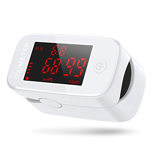 JOYSKY Pulsossimetro da Dito, Ossimetro Saturimetro da Dito Portatile Professionale con Display LED