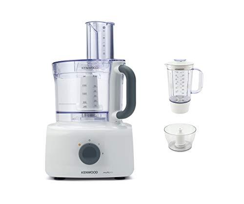 Kenwood FDP643WH MultiPro Home Food Processor, Robot da Cucina con Frullatore, 1000 W, 3 Litri, Plastica, Bianco