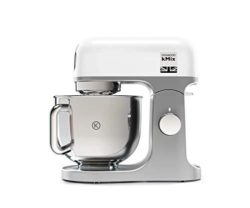 Kenwood KMX750WH Impastatrice Planetaria Kitchen Machine kMix, Robot da Cucina Mixer, 1000 W, 5 Litri, Acciaio, Plastica, Bianco