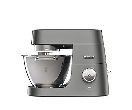 Kenwood KVC7300S Impastatrice Planetaria Chef Titanium SYSTEM PRO, Robot da Cucina Mixer, 1500 W, 4.6 Litri, Acciaio, Argento