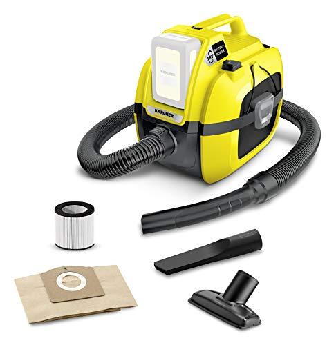 Kärcher Aspirapolvere Multifunzione WD 1 Batteria compatta - Potenza: 230 W, Serbatoio 17 litri, Deposito Accessori, Senza batteria