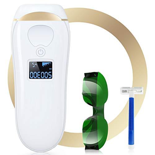 Laser Epilatore 500300 Flash IPL Epilatore a Luce Pulsata 5 impostazioni di intensità per viso e Corpo Professionale Senza Dolore per Casa
