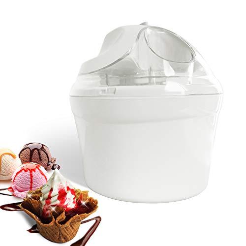 Leogreen - Macchina Per Fare Yogurt Freddo, Gelatiera, Bianco, Potenza: 12 W, Dimensioni della ciotola: 20 x 20 x 13,5 cm