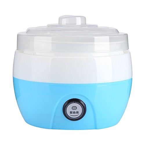 Macchina del yogurt fai da te 1L, strumento per yogurt automatico, contenitore per yogurt in plastica automatico (蓝色)