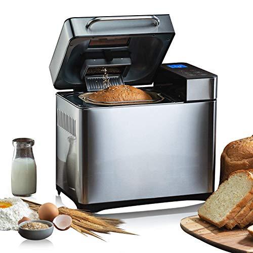 Macchina per il pane, 19 programmi senza glutine, con display e timer programmabile 15 ore, 710 W
