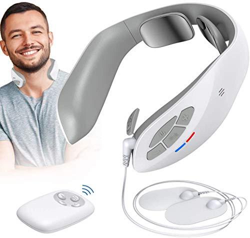 Massaggiatore Cervicale - U UZOPI Massaggio per Collo Intelligente, Multifunzionale Ricaricabile Fisioterapia Elettromagnetica, Shiatsu Schiena per Uso Domestico in Ufficio Portatile