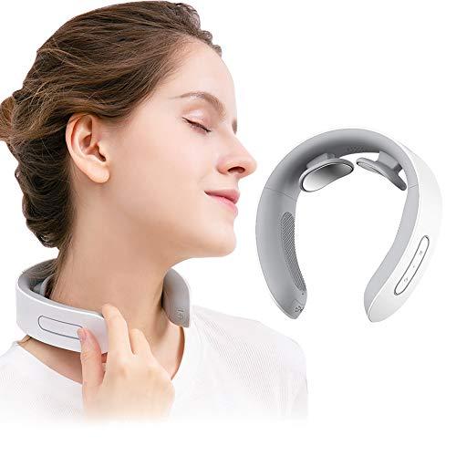 Massaggiatore Cervicale,Massaggiatore Elettrico per Collo,Portatile Massaggiatore per Collo IntelligenteCollo rilassanteMassaggiatore per collo a impulsi elettromagnetici con funzione di riscaldamento