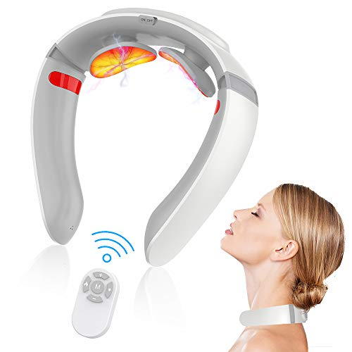 Massaggiatore per Collo, Massaggiatore Cervicale e da Collo Portatile Massaggio Profondo del Collo Massaggio per Collo Intelligente Multifunzionale Massaggiatore Elettrico Cervicale allevia il dolore