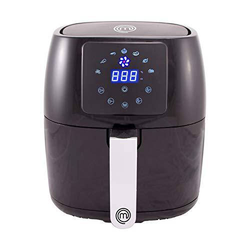 MasterChef Friggitrice Ad Aria, Temperatura Regolabile 80°C - 200°C, Cestello da 4.5 L Rimovibile, Rivestimento Antiaderente PTFE, Cestello Lavabile in Lavastoviglie