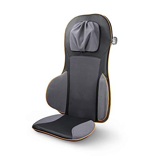 Medisana MC 825 Massaggio Shiatsu, Seduta Massaggiante con Digitopressione, Massaggio Cervicale, Funzione Riscaldamento, 3 Intensità, Funzione Luce Rossa, con Telecomando per Schiena e Collo