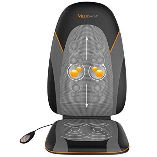 Medisana MC 830 Massaggio Shiatsu Pad, Seduta Massaggiante con Teste in Gel, Massaggio con Gel per Tutta la Schiena 3 Livelli di Intensità, Funzione di Riscaldamento, con Telecomando