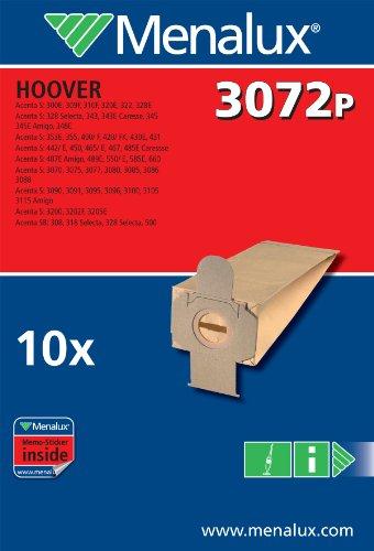 Menalux 900256161 3072P Sacchetti per Scopa Hoover Acenta
