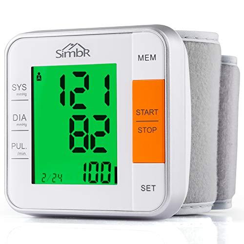 Misuratore Pressione con 240 Memorie,SIMBR Misuratore di Pressione da Polso,Sfigmomanometro da polso Digitale Professionale,Monitor della Pressione Arteriosa con Funzione di Rilevamento dell'Aritmia