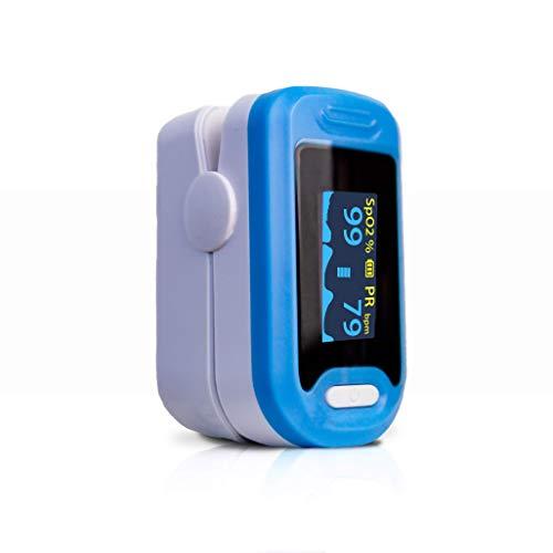 Mobiclinic, Saturimetro da dito, PY 04, Marchio Europeo, Pulsossimetro da dito portatile, Marcatura Europea, Schermo LED, Lettura Digitale immediata, Frequenza cardiaca, Saturazione di ossigeno (SpO2)