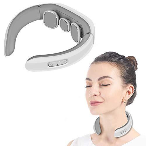 Moonssy Massaggiatore cervicale e da Collo,Massaggiatore Cervicale,Massaggiatore Schiena,Massaggiatore per Collo Intelligente Elettromagnetico Multifunzionale Massaggiatore