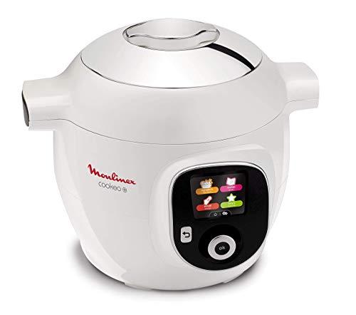 Moulinex CE8511 Cookeo+ Multicooker con 100 Ricette Italiane pre Impostate, 6 Modalità di Cottura, 2-6 Persone, Seconda Pentola Antiaderente Inclusa, 1600 W, Acciaio Inossidabile, Bianco Cromato