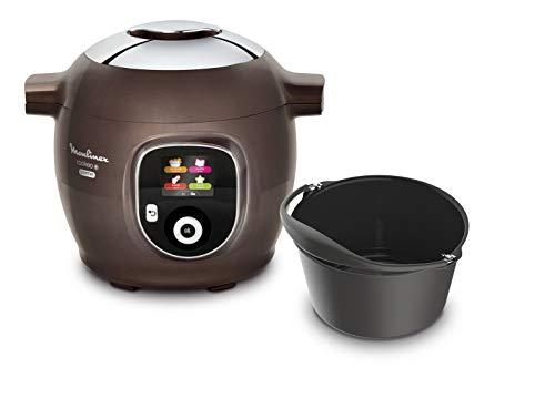 Moulinex CE852900 - Multicooker intelligente Cookeo + Gourmet 6 l, 6 modalità di cottura, 150 ricette preprogrammate fino a 6 persone, con stampo per dolci incluso, colore: Marrone ghiaccio